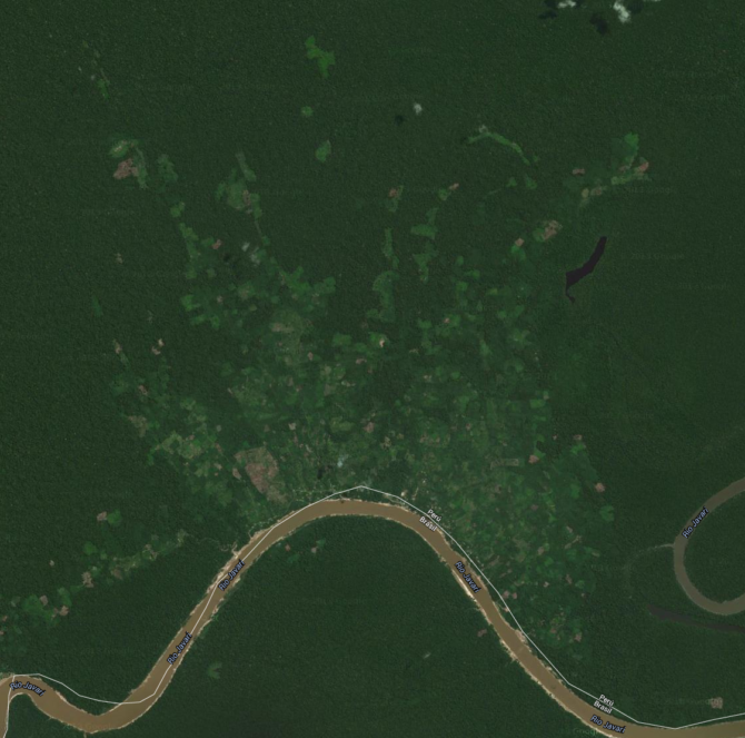 google satellite view of Estirón Perú