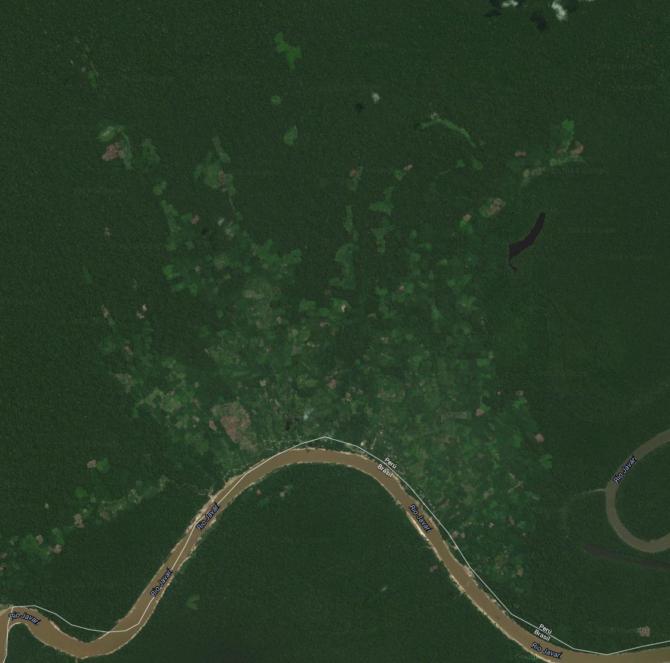 google satellite view of Estirón Perú