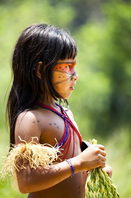 Matsés young girl traditional dress Acaté Alicia Fox Photography