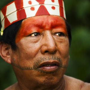 Matsés chieftan male face paint Alicia Fox