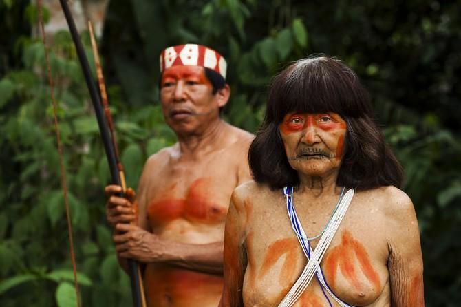 Matsés elder man and woman Alicia Fox Photography