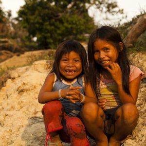 Alicia Fox Matsés Children photo river bank