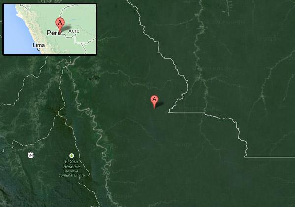 Matsés territory. Courtesy of Google Earth