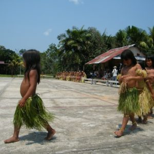 Traditional Matsés ceremony