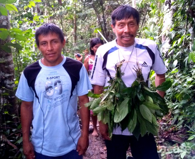 Lucho and his Matsés son on a plant medicine journey