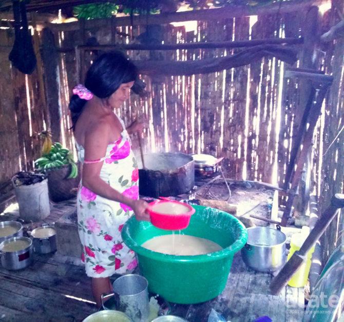 banana drink Matsés Amazon