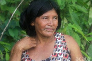 Marina Matsés elder, farmer and crafts maker.