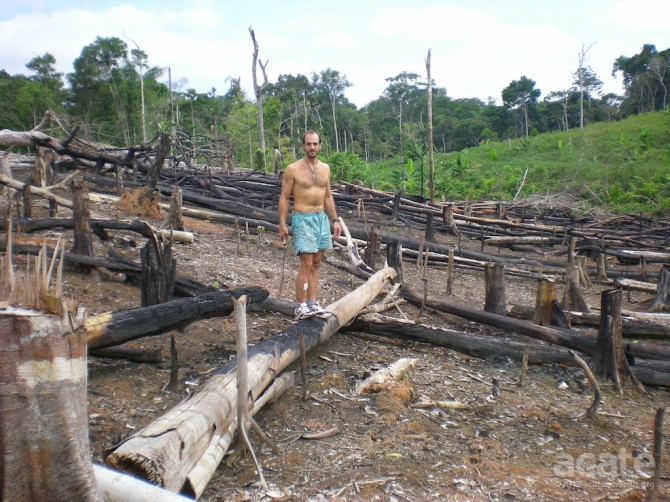 David Fleck farm after burn clearing