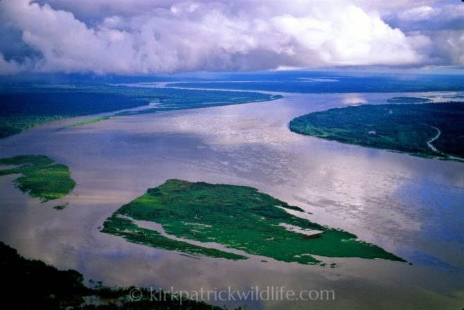 Confluence of Maranon & Ucayali, Amazon - Aerial Kirkpatrick