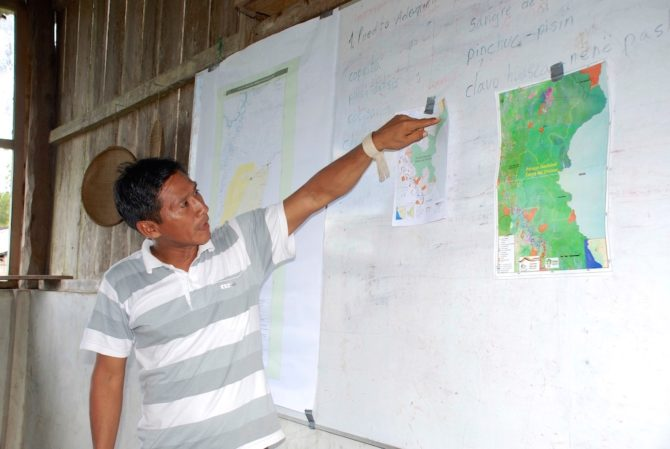 Wilder high chief and map matses amazon rainforest peru