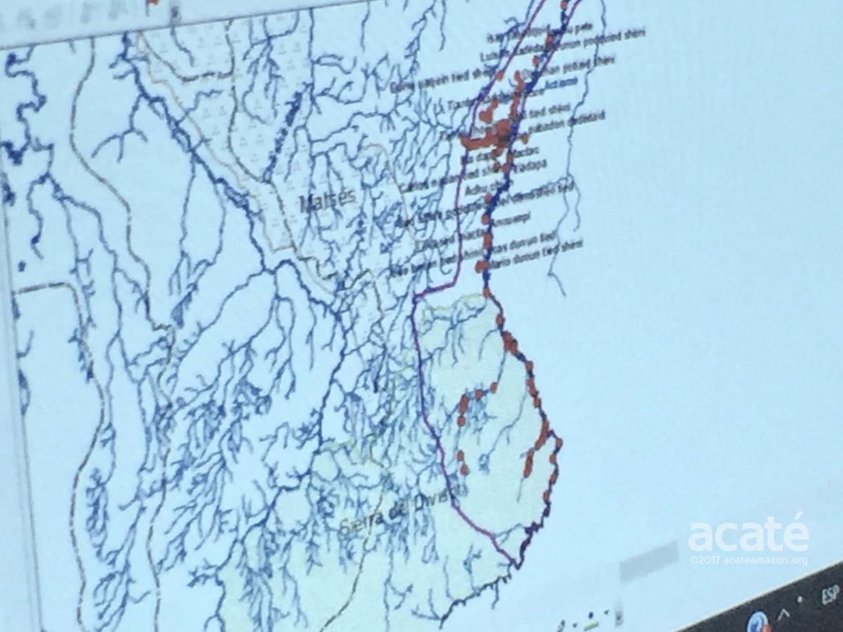 Matsés ancestral land use extending into Sierra Divisor