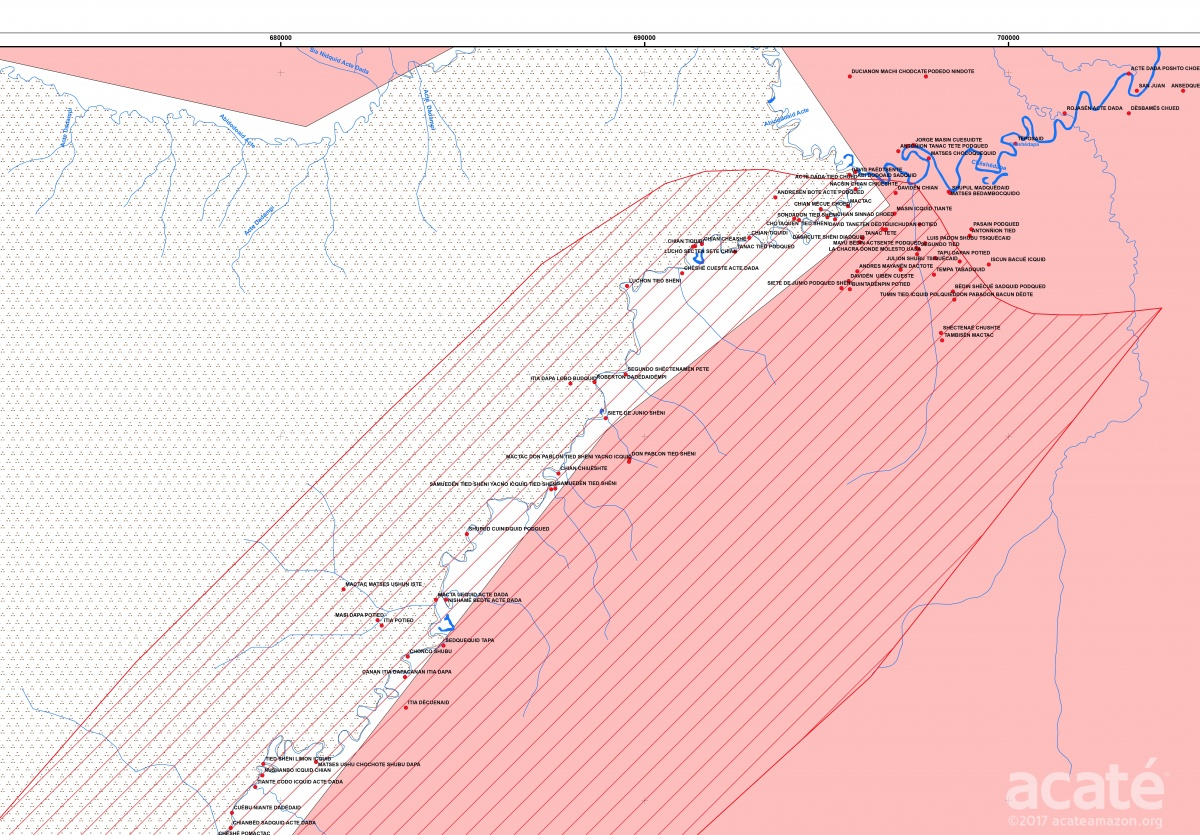 A small extraction from just one of the four draft maps prepared presentation at the meeting ©Acaté